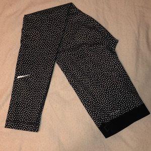 Nike Pro Dri-Fit black & White Polka dots leggings